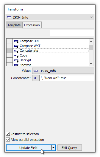 Example: Construct JSON String using Select and Transform