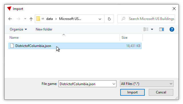 Example: Import GeoJSON / JSON File