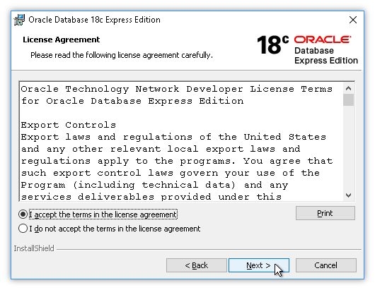 Install Oracle