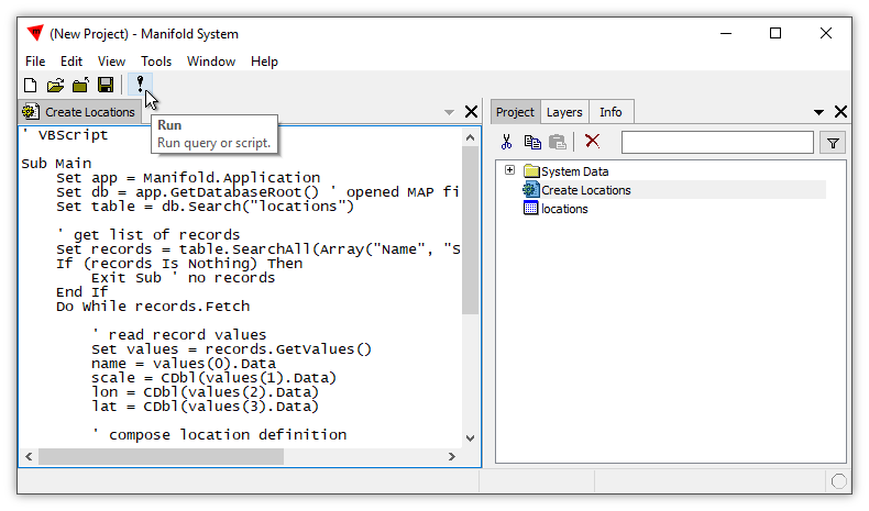 Example: VBScript to Create Locations from a Table