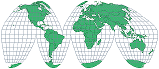 Goode\'s Homolosine Projection
