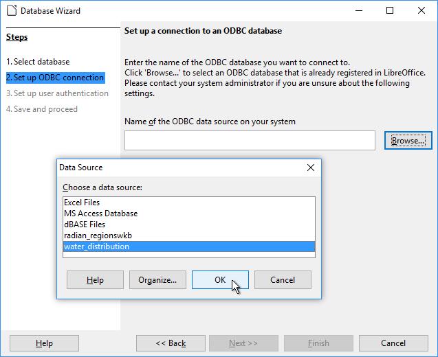 Example: Connect LibreOffice Through Manifold to an ESRI GDB