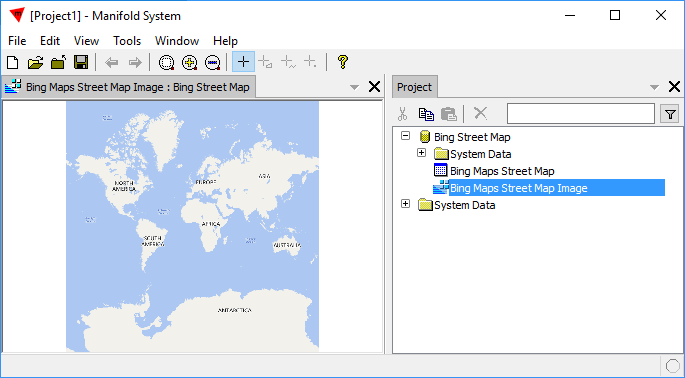 Example Create A New Data Source From A Manifold Image Server - Create street map