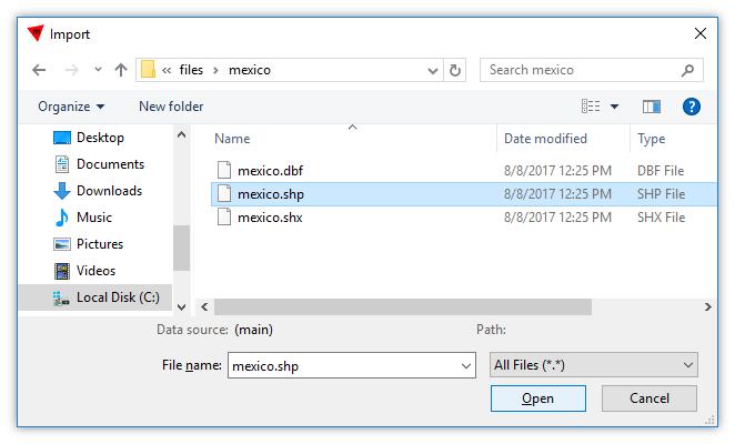 Shapefile Data