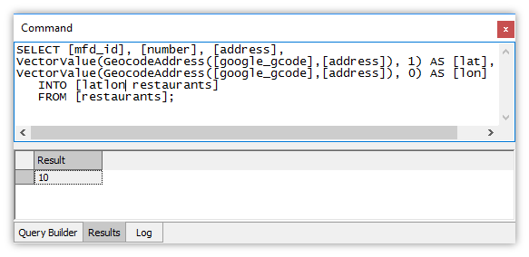 Example: Street Address Geocoding
