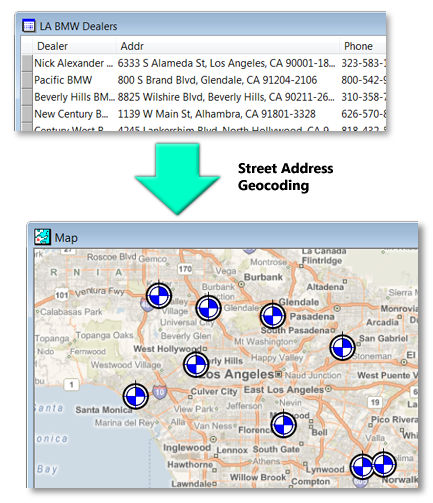 What street address geocoding does