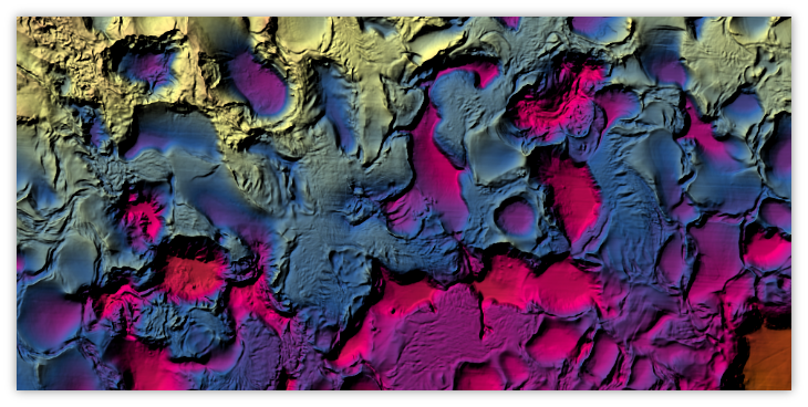 Closer view of high resolution Gulf of Mexico Bathymetry