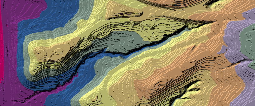 LiDAR data from ArcGIS REST server with palette by Manifold