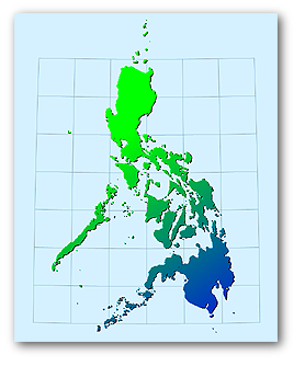 Phillipines with gradiant map effects seen in Manifold