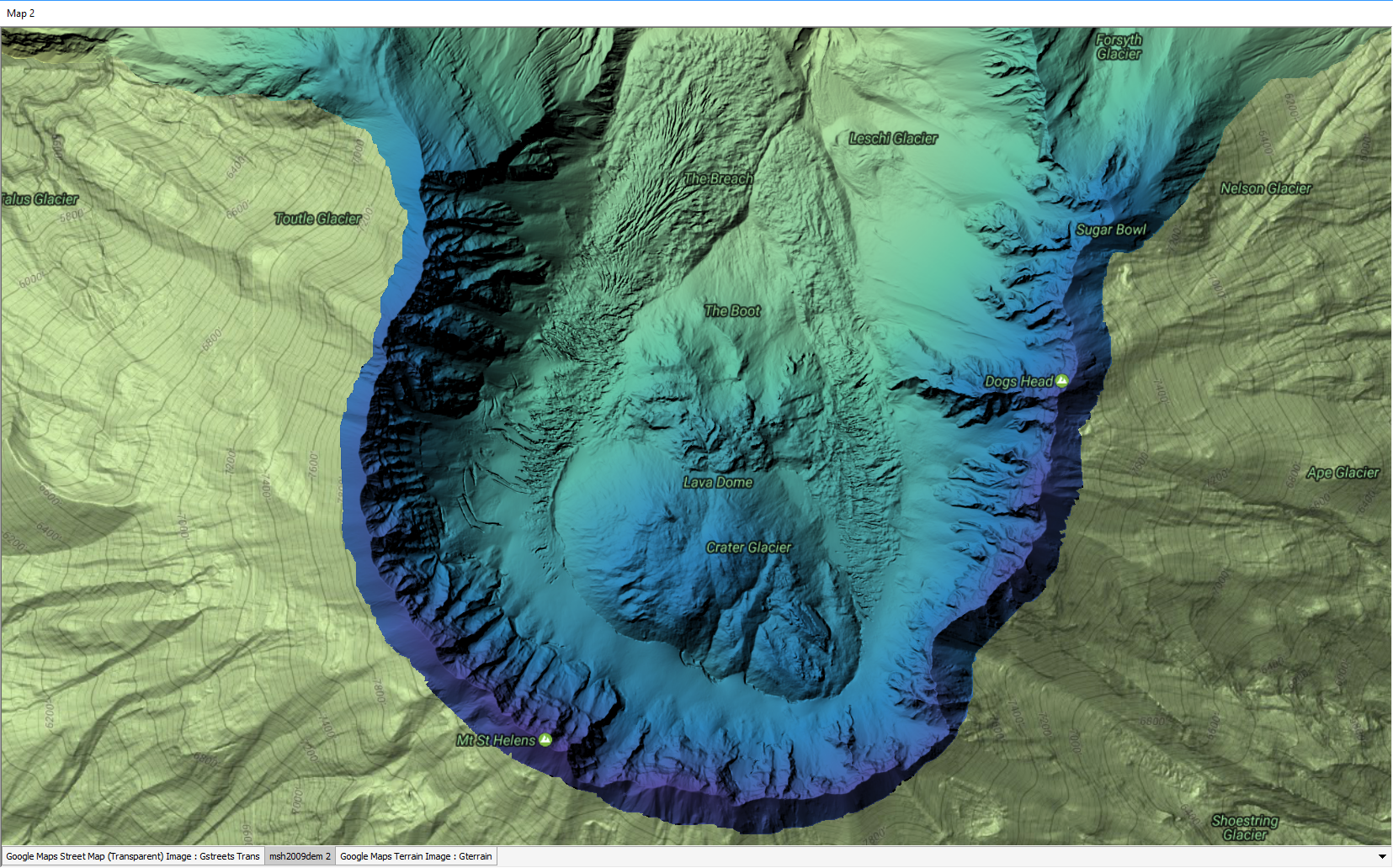 Manifold Software GIS And Database Tools - Dem data sources