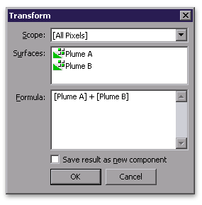 Surface transform dialog
